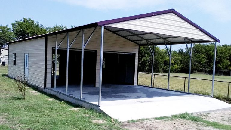 24x40x10 Enclosed Carport