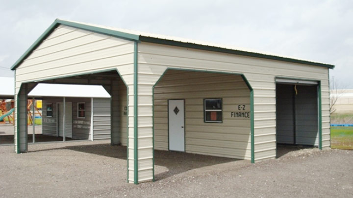 30x30 custom building with shaded parking and secure storage