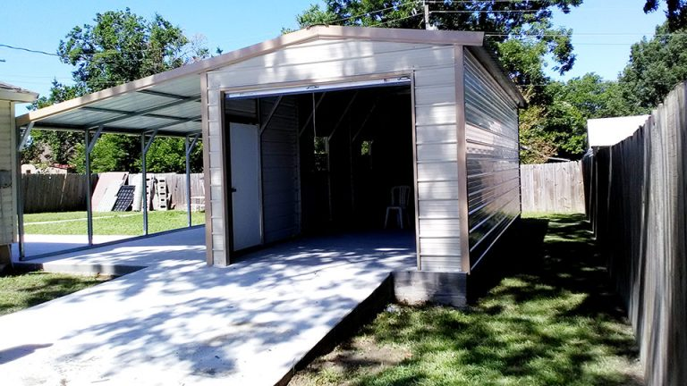 12x30x9 Garage With Lean to