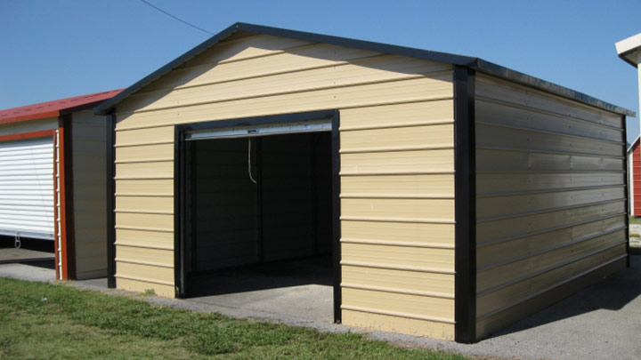 Boxed Eave Front Entry Garage