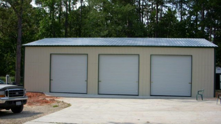 Vertical roof Side Entry Garage