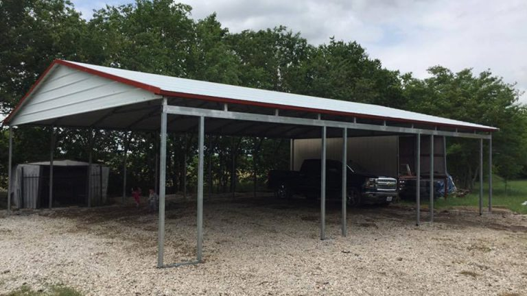 24x50x10 side entry Carport