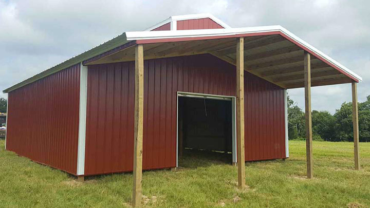 36×36 With 10×36 Overhang POLE Barn