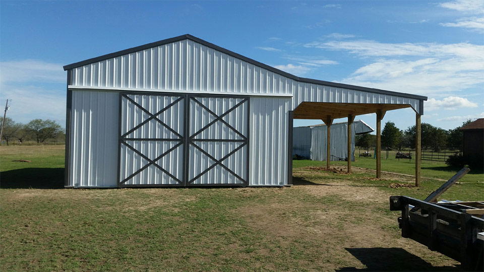 32x40x14 open span with 12 wide lean to