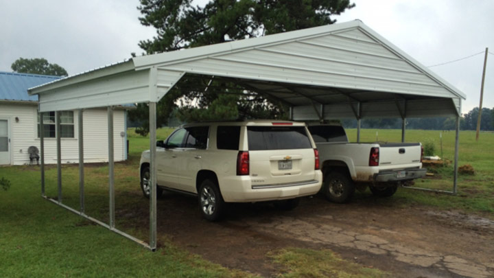 20x20x10 vertical carport